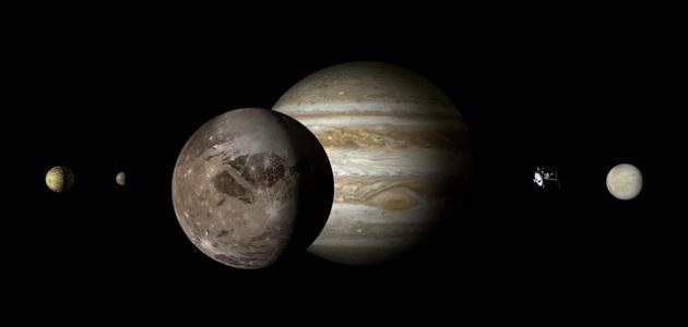 صورة أكبر قمر في المجموعة الشمسية