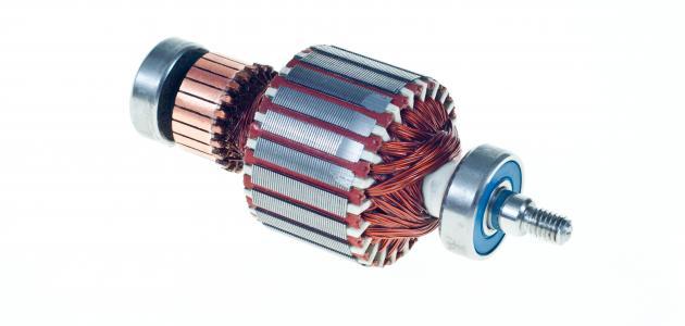 صورة مكونات المحرك الكهربائي