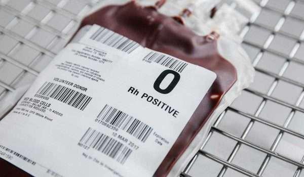 صورة فصيلة الدم o+ والنظام الغذائي الخاص بها