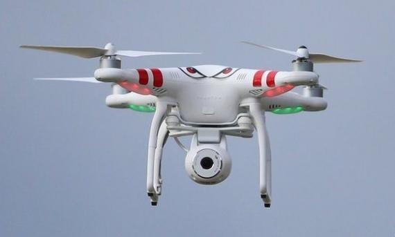 صورة استخدام طائرات الدرون خلال الحظر الشامل
