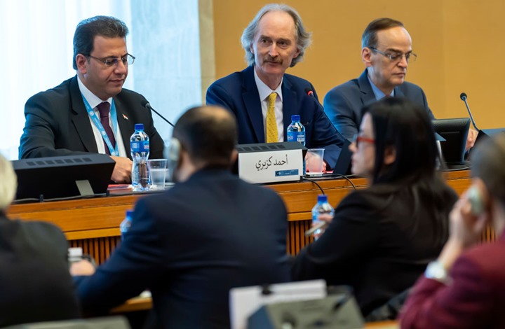 """صورة مصدر """"عربي21"""": استئناف لقاء لجنة الدستور السوري الخميس"""