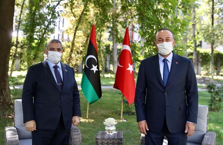 صورة المشري يلتقي وزير خارجية تركيا بأنقرة بعد لقائه أردوغان