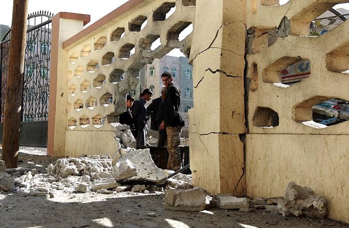 صورة هجوم حوثي على مسجد بمأرب يوقع قتلى وجرحى