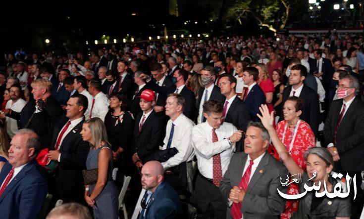 صورة تحويل حديقة خارج البيت الأبيض لمسرح لحملة ترامب