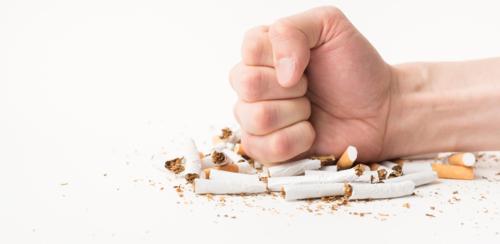 صورة الإعلان عن حملة الإقلاع عن التدخين من قبل منظمة الصحة العالمية في الأردن