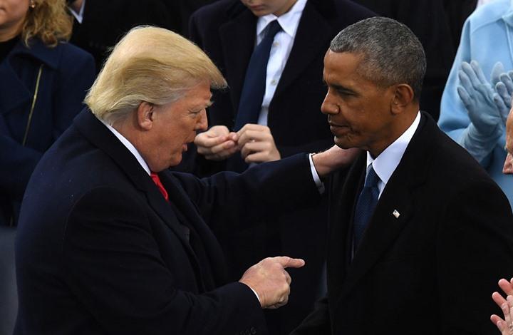 """صورة ترامب يستغرب من منح """"نوبل"""" لأوباما.. ويأمل بالحصول عليها"""