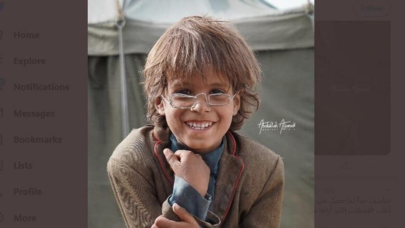 صورة جديد النظارة الحديدية والطفل.. الصورة تفوز