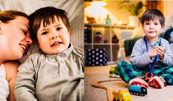 صورة طفل مصاب بالخرف! عمره 4 سنوات فقط وينسى حتى كلمة ماما!