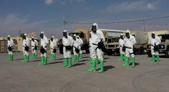 صورة الجيش يتسلم مادة تعقيم كفاءتها 100%
