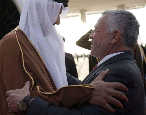 صورة أمير قطر يهاتف الملك