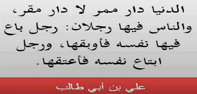 صورة أقوال وحكم الأمام علي بن أبي طالب
